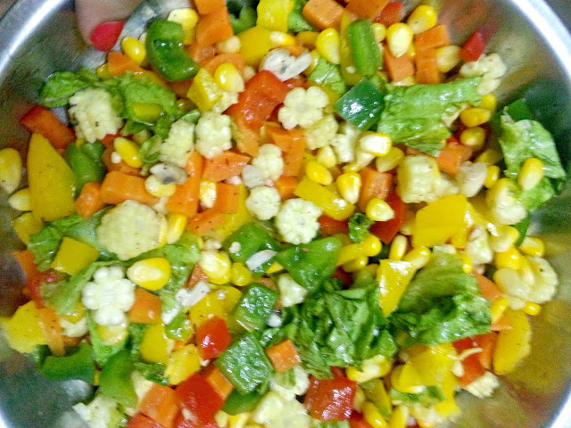 healthy vegetable diet salad